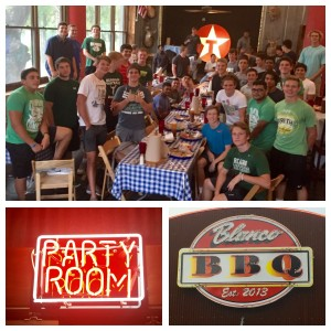 A great time was had by all!  Thank you Blanco BBQ!  Strike 'em!