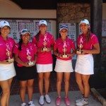 Senior Faith Summers (far right), wins 3rd with a 6-under par performance of 67-70-73 / 210 during the Swing For the Cure Tournament at Brackenridge Golf Club on October 2-3, 2015.