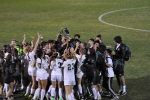 Boys and Girls Celebrate after Ian's Cup Win over JHS