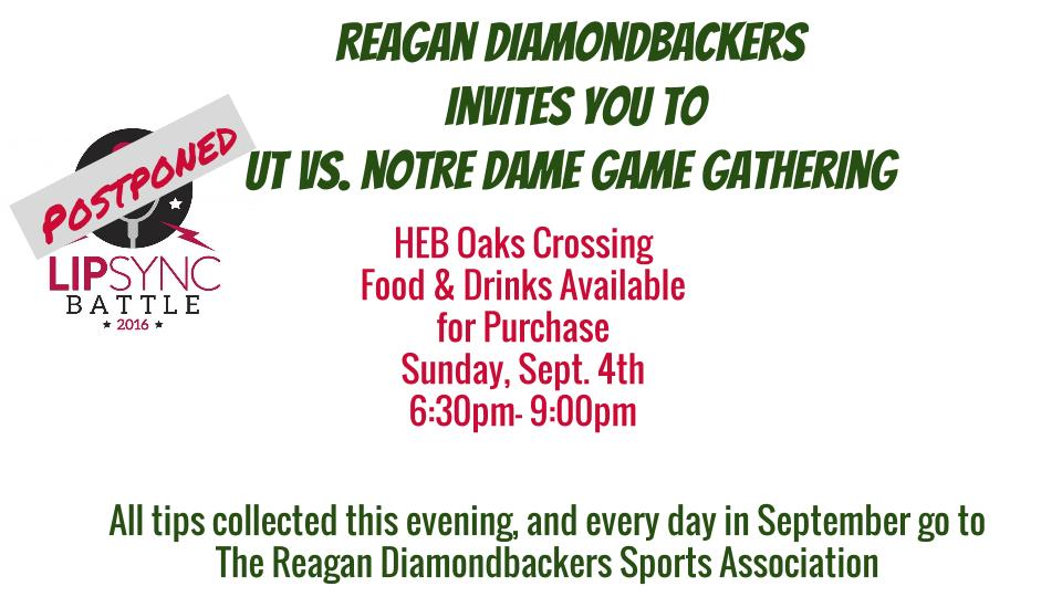 Join us for a Game Gathering: UT vs. Notre Dame, Sept 4th