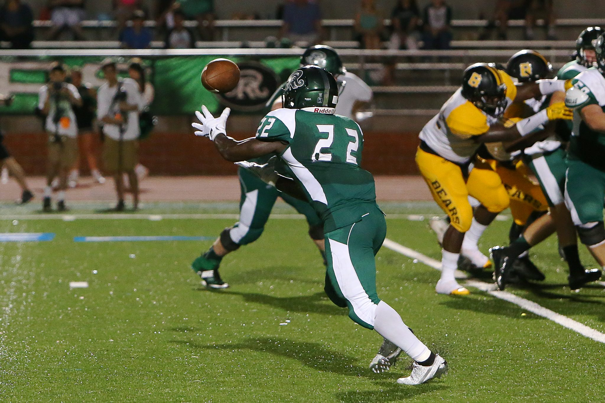 Marquis Duncan had a great night running and Catching passes (vs. Brennan)
