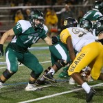 O lineman Brandon Smith blocks (vs. Brennan)