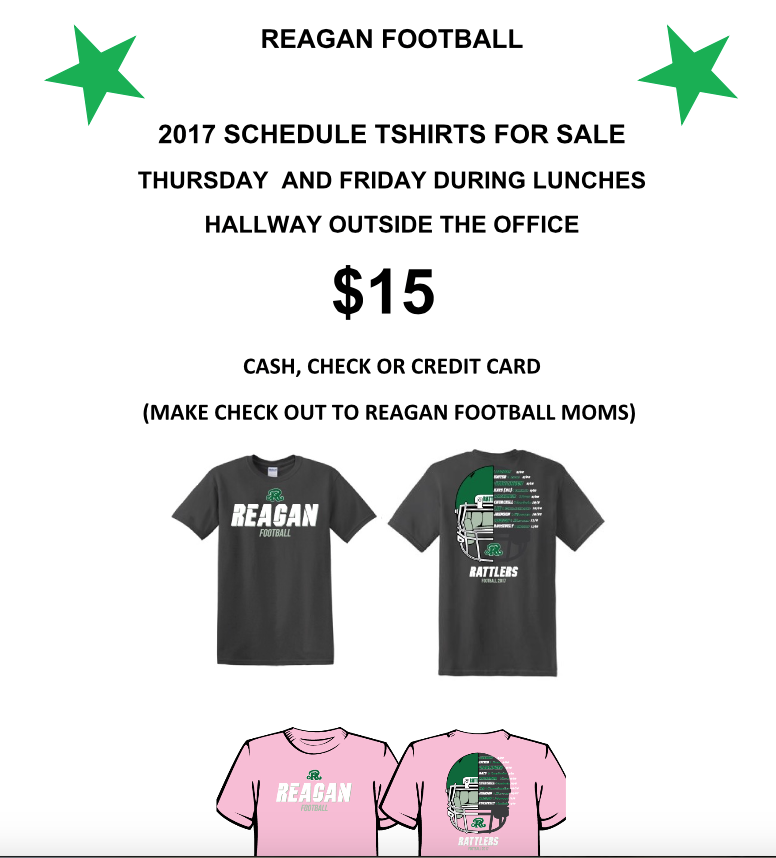 FB Schedule Shirt 2017